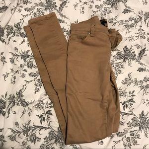 Forever21 Khaki Skinny Cut Jeans